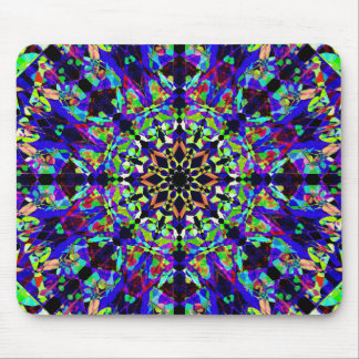 Vibrant Mosaic Mandala Mouse Pad