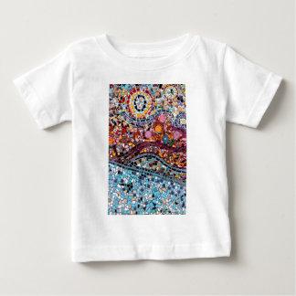 Vibrant Mosaic Wall Art Baby T-Shirt