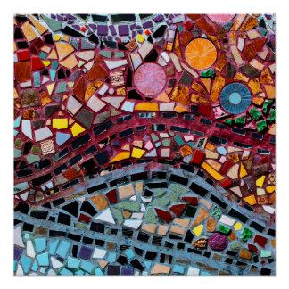 Vibrant Mosaic Wall Art Poster