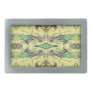 Vibrant Multi Colored Artistic Pattern Belt Buckles