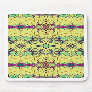 Vibrant Multi Colored Artistic Pattern Mouse Pad