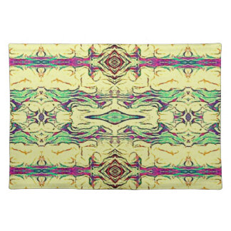 Vibrant Multi Colored Artistic Pattern Placemat