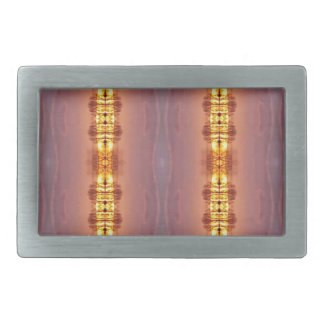 Vibrant Multi Colored Artistic Pattern Rectangular Belt Buckles