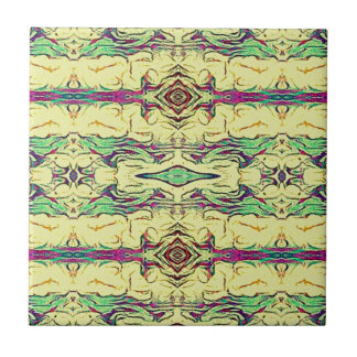 Vibrant Multi Colored Artistic Pattern Tile