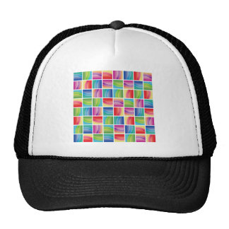 Vibrant Multicolored Abstract Hats