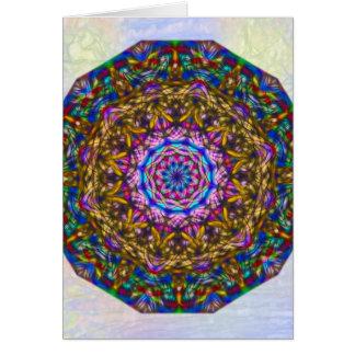 Vibrant mystic kaleidoscope vertical card