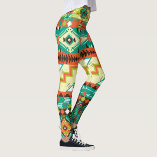 Vibrant Native American Design Leggings
