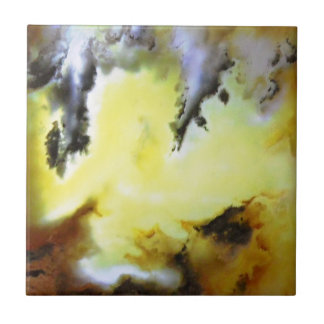Vibrant Natural Moss Agate Photo Designed Small Square Tile