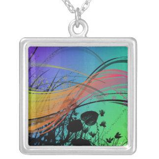 Vibrant Square Pendant Necklace