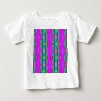 Vibrant Neon Girly Pink Teal Cool Pattern Baby T-Shirt
