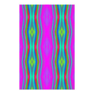 Vibrant Neon Girly Pink Teal Cool Pattern Stationery