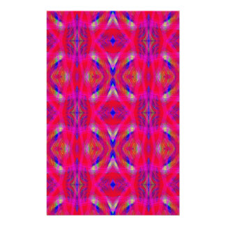 Vibrant Neon Hot Pink Chic Pattern Stationery