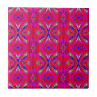 Vibrant Neon Hot Pink Chic Pattern Tile