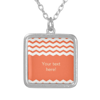 Vibrant orange chevron zigzag pattern jewelry