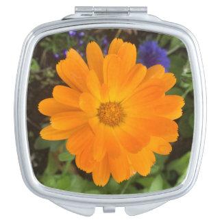 Vibrant Orange Dahlia Flower Mirror Mirrors For Makeup