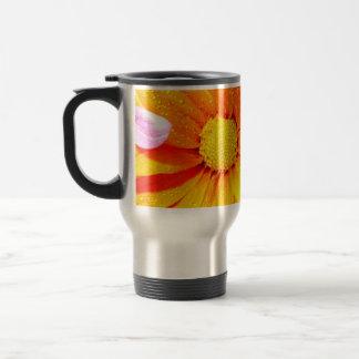 Vibrant Orange Fiore Travel Mug