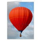 Vibrant Orange Hot Air Balloon Card