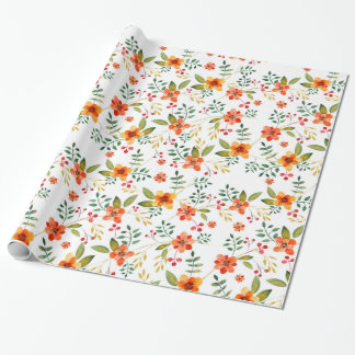 Vibrant Orange, Yellow, and Red Floral Pattern