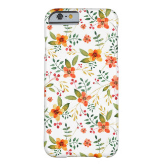 Vibrant Orange, Yellow, and Red Floral Pattern Barely There iPhone 6 Case