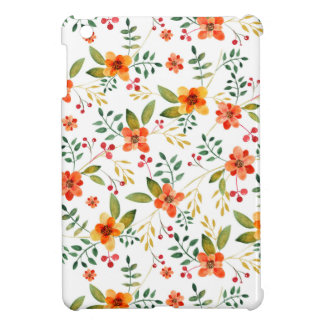 Vibrant Orange, Yellow, and Red Floral Pattern iPad Mini Covers