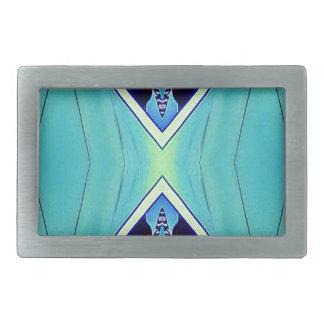 Vibrant Pastel Artistic Geometric Pattern Rectangular Belt Buckles