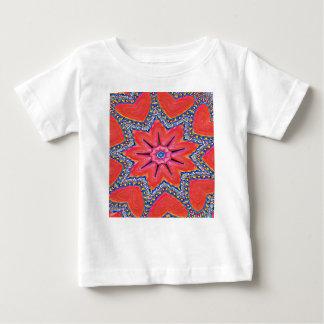 Vibrant Peach Rose Colored Kaleidoscope Pattern Baby T-Shirt