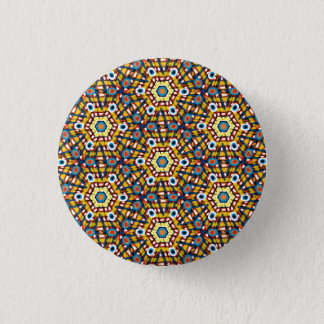 Vibrant peacock pattern button