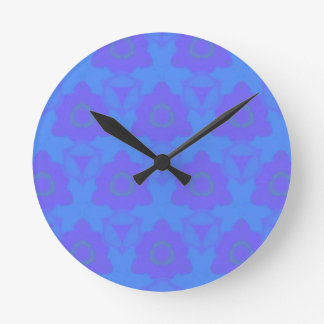 Vibrant Periwinkle Blue Purple Modern Pattern Clocks