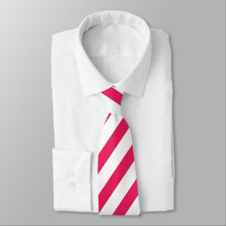 Vibrant pink and white stripe pattern tie