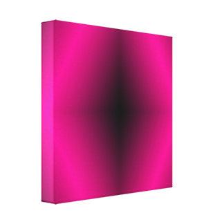 Vibrant Pink Diamond w/Black Canvas Print