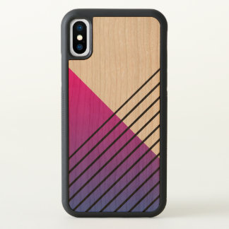 Vibrant Pink Geometric Pattern iPhone X Case