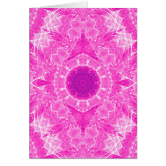 Vibrant pink kaleidoscope greeting card