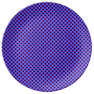 Vibrant Polka Dot Pattern. Porcelain Plates