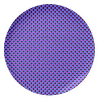 Vibrant Polka Dots Party Plate