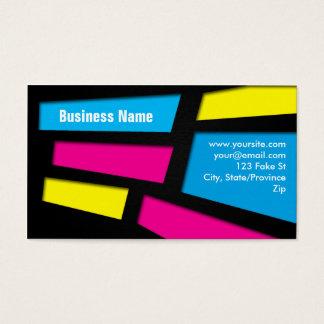 Vibrant Pop Squares Business Card
