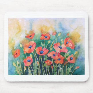 Vibrant Poppies Mouse Pad