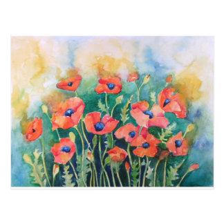 Vibrant Poppies Postcard