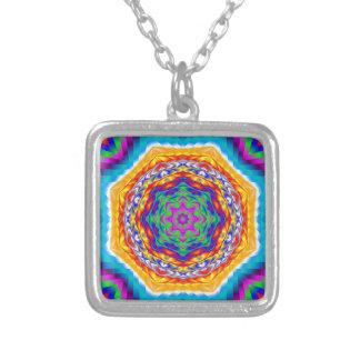 Vibrant Psychedelic Kaleidoscope Star Pendant
