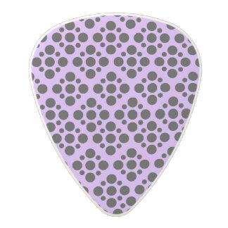 Vibrant Purple and black polka dot pattern Polycarbonate Guitar Pick