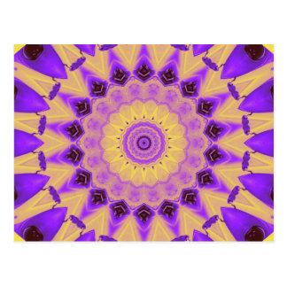 Vibrant Purple and Yellow Kaleidoscope card