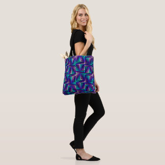 Vibrant Purple & Blue Electric Geometric Tote Bag