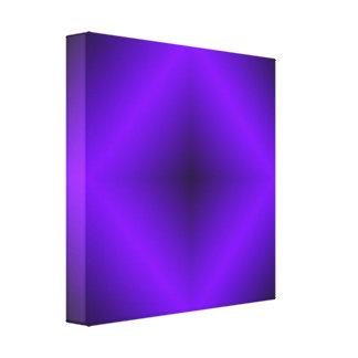 Vibrant Purple Diamond w/Black Background Canvas Print