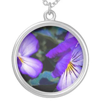 Vibrant Purple Pansy Jewelry