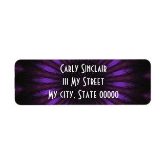 Vibrant Purple Return Address Label