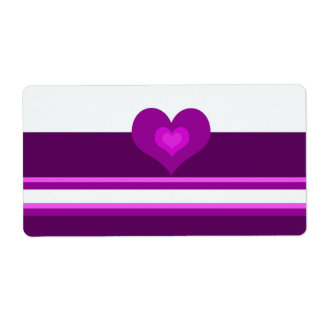Vibrant Purple Shipping Label