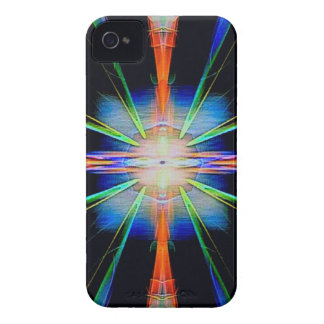 Vibrant Radiating Funky Pattern iPhone 4 Cases
