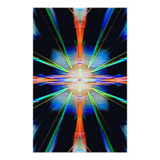 Vibrant Radiating Funky Pattern Stationery
