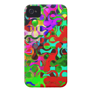 Vibrant Rainbow Colored Pattern Abstract iPhone 4 Case