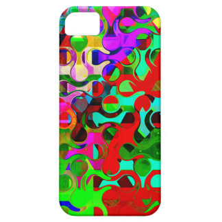 Vibrant Rainbow Colored Pattern Abstract iPhone 5 Cases