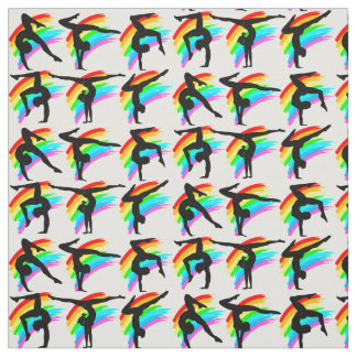 VIBRANT RAINBOW GYMNASTICS FABRIC